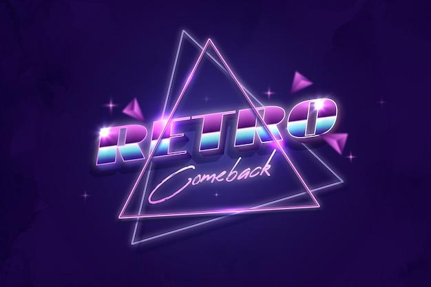 Efekt tekstowy retro comeback