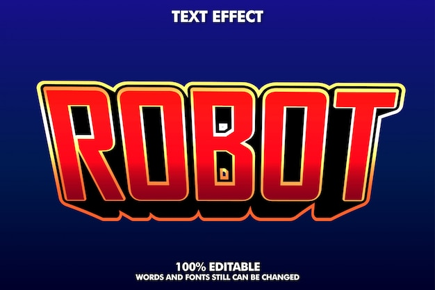 Efekt tekstowy robota dla nowoczesnego projektu tytułu