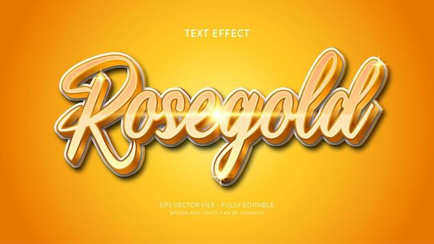 Efekt tekstowy różowego złota