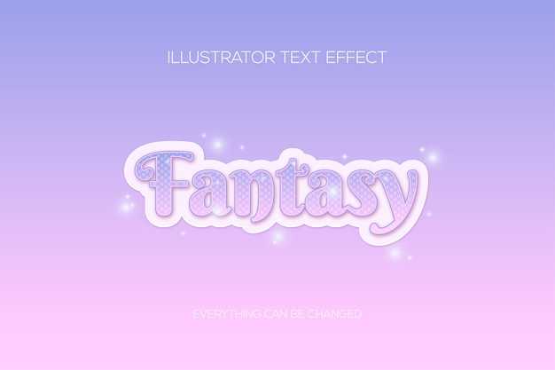 Efekt tekstowy różowej galaktyki fantasy
