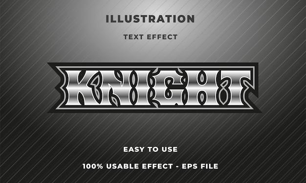 Efekt tekstowy rycerza