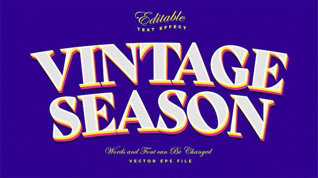Efekt tekstowy sezonu vintage