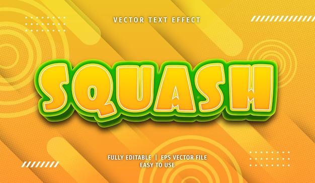 Efekt tekstowy squash, edytowalny styl tekstu