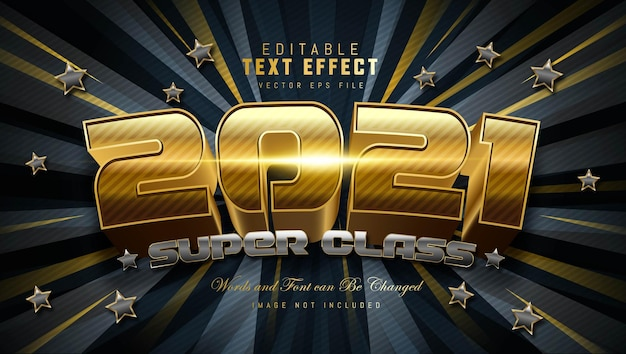 Efekt tekstowy super class 2021