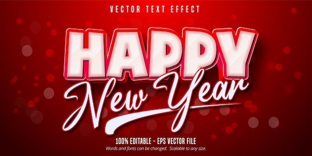 Efekt tekstowy szczęśliwego nowego roku