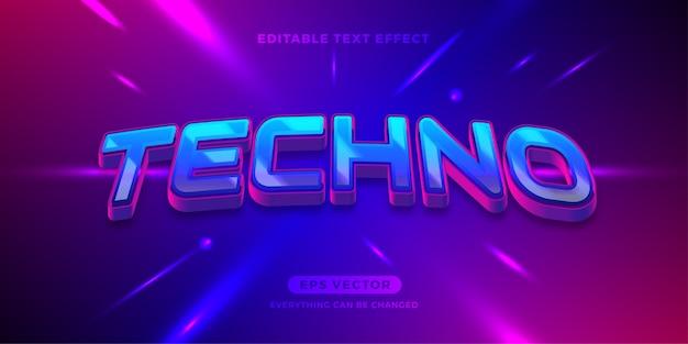 Efekt tekstowy tehno