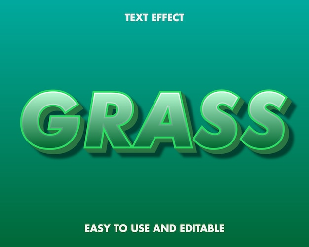 Efekt tekstowy trawy. edytowalny efekt czcionki.