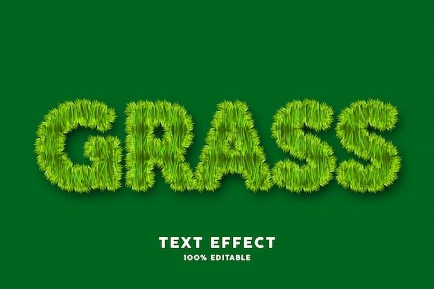 Efekt tekstowy trawy, tekst edytowalny