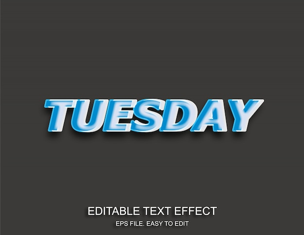 Efekt tekstowy tuesdey pop-art