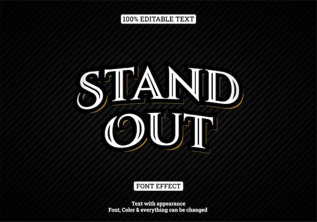 Efekt tekstowy typografia styl vintage