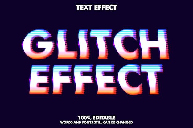 Efekt tekstowy usterki dla nowoczesnego i retro stylu