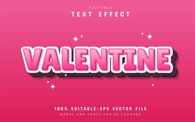 Efekt tekstowy valentine