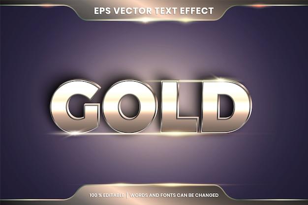 Efekt tekstowy w 3d efekt tekstowy złote słowa edytowalne
