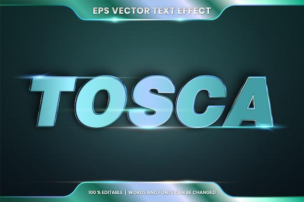 Efekt tekstowy w 3d tosca words style czcionek motyw edytowalny koncepcja