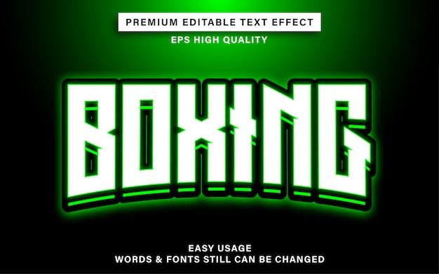Efekt tekstowy w boksie sportowym