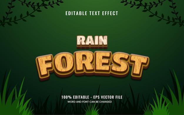 Efekt tekstowy w dżungli