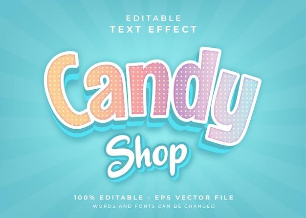 Efekt tekstowy w sklepie ze słodyczami