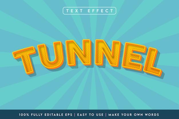 Efekt tekstowy w stylu 3d tunelu w kolorze żółtym