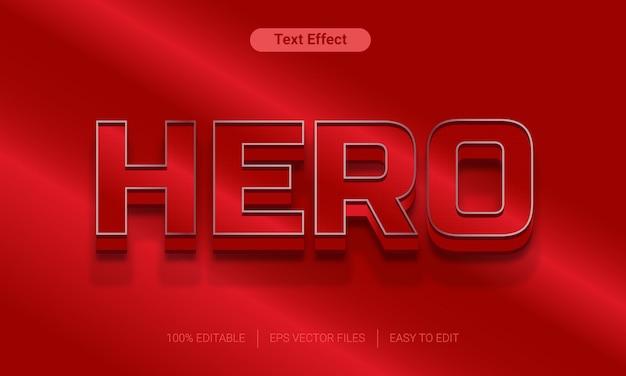Efekt tekstowy w stylu czerwonego gradientu bohatera