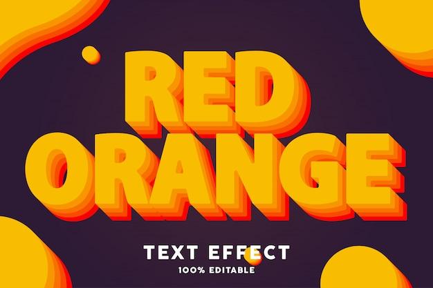 Efekt tekstowy w stylu czerwonej pomarańczy