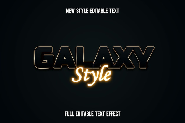Efekt tekstowy w stylu galaktyki na zielonym i złotym gradiencie