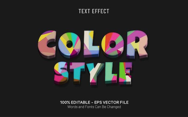 Efekt tekstowy w stylu koloru