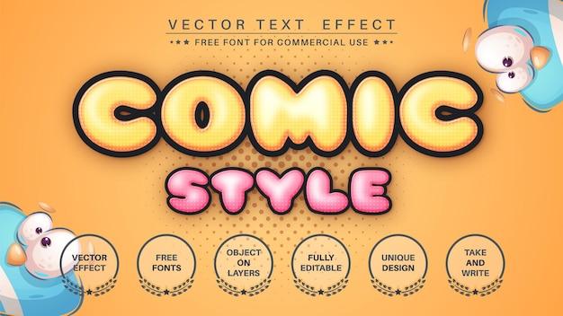Efekt tekstowy w stylu komiksowym