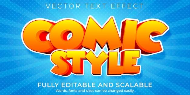 Efekt tekstowy w stylu kreskówki, edytowalny komiks i zabawny styl tekstu