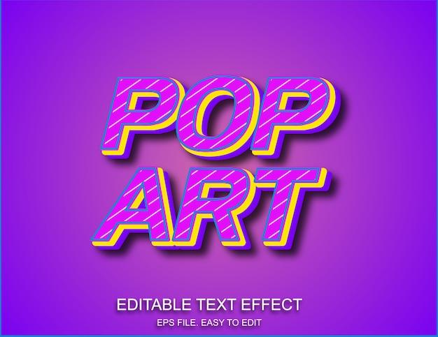 Efekt tekstowy w stylu pop-art