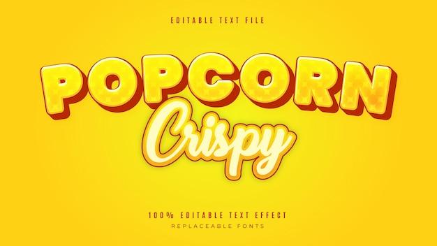 Efekt tekstowy w stylu popcornu 3d