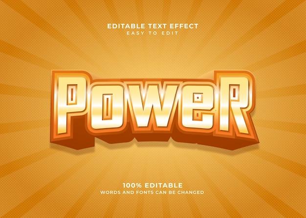 Efekt tekstowy w stylu power