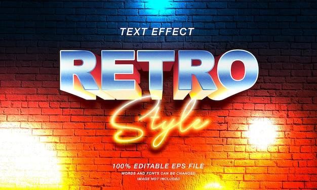 Efekt tekstowy w stylu retro 3d
