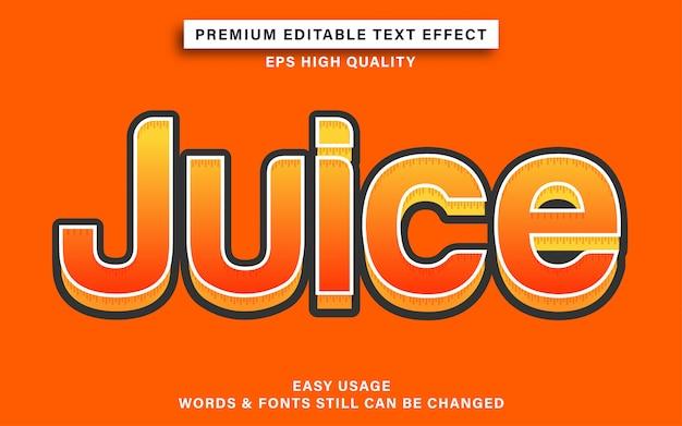 Efekt tekstowy w stylu soku