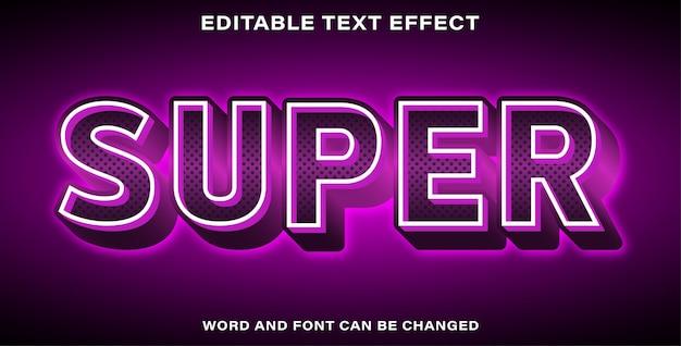 Efekt tekstowy w stylu super