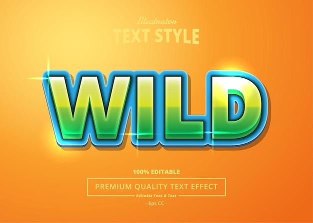 Efekt tekstowy wild illustrator