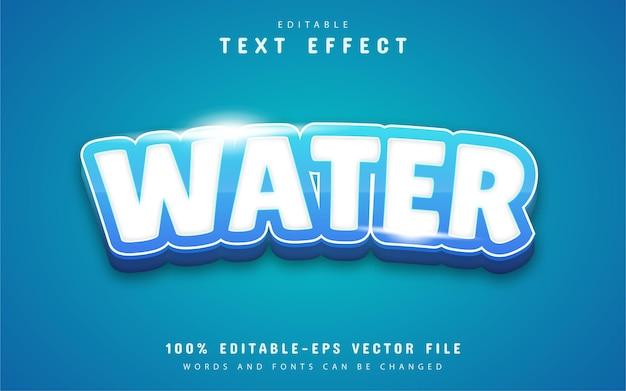 Efekt tekstowy wody