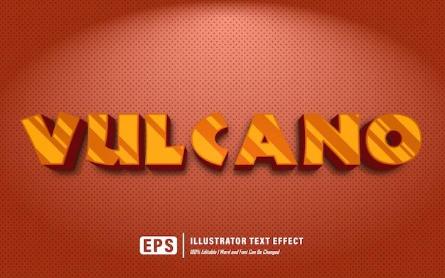 Efekt tekstowy wulkanu - edytowalny