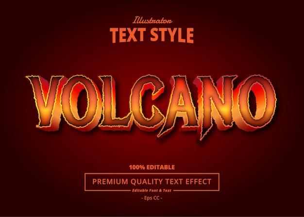 Efekt tekstowy wulkanu