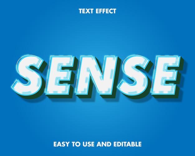Efekt tekstowy wyczuwalny. edytowalny efekt czcionki.