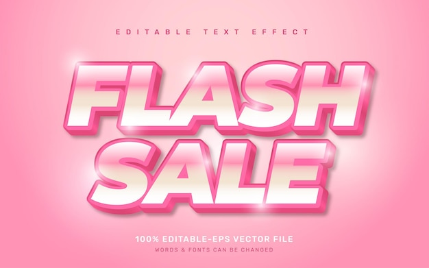 Efekt tekstowy wyprzedaży flash