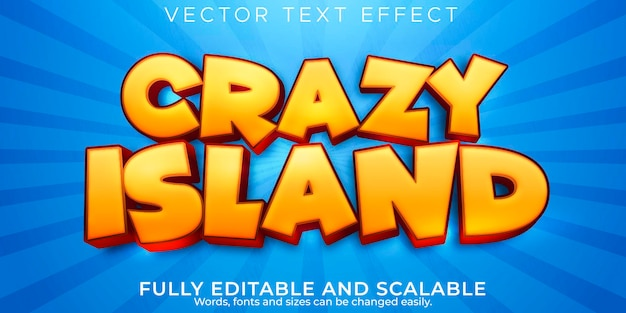 Efekt tekstowy wyspy; edytowalny styl kreskówek i zabawny tekst