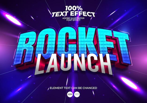 Efekt tekstowy wystrzelenia rakiety