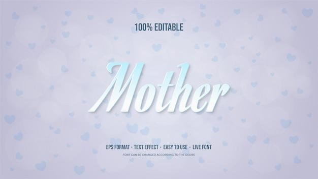 Efekt tekstowy z motywem dnia matki w kolorze białym i granatowym.