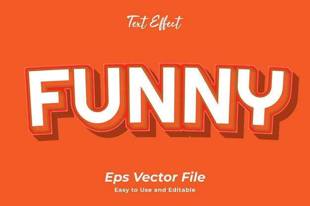 Efekt tekstowy zabawny edytowalny i łatwy w użyciu wektor premium