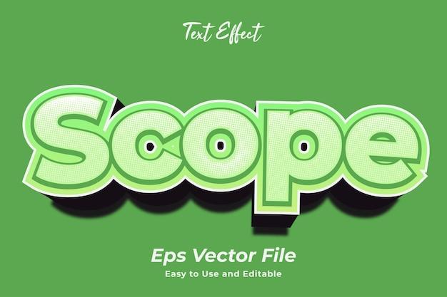 Efekt tekstowy zakres edytowalny i łatwy w użyciu wektor premium