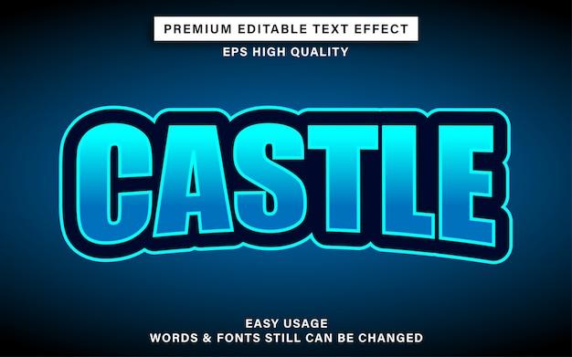Efekt tekstowy zamku esport