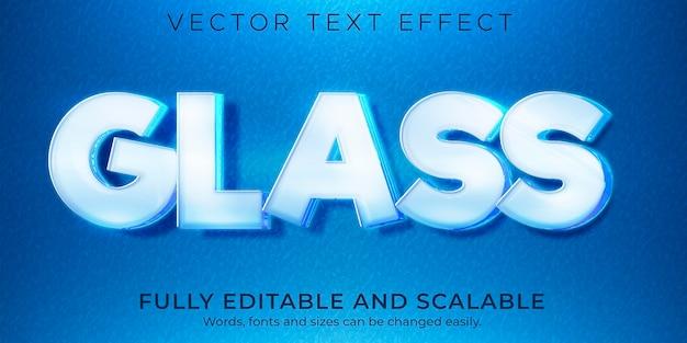 Efekt tekstowy ze szkła i tworzywa sztucznego, edytowalny przezroczysty, izolowany styl tekstu