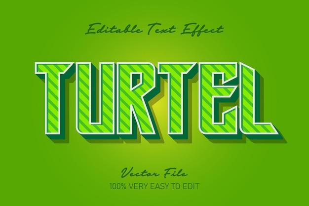 Efekt tekstowy zielonego żółwia