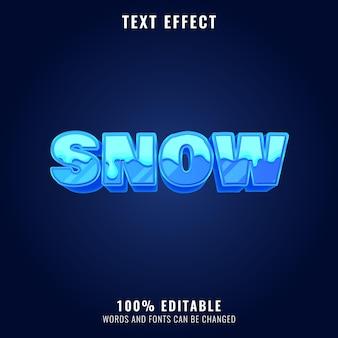 Efekt tekstowy zima śnieżna fantazja