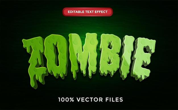Efekt tekstowy zombie premium wektorów